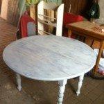 table en cours relooking
